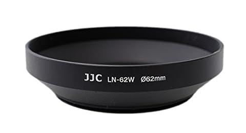 JJC 62mm Paresoleil d'objectif en métal pour grand angle pour TAMRON AF 18–200mm f/3,5–6,3XR Di II LD Asphérique (IF) Macro numérique filetage de filtre objectif (62mm)