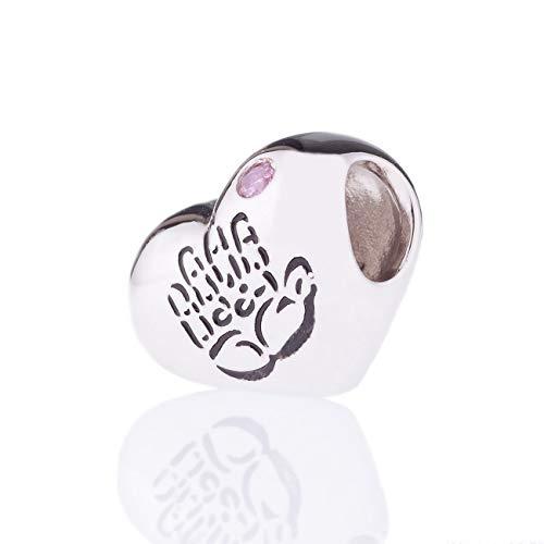 CHARMÉE Luxembourg Liebe Charm handgefertigt aus 925 Sterling-Silber,14 Karat vergoldet, Nickelfrei (Baby Charm)