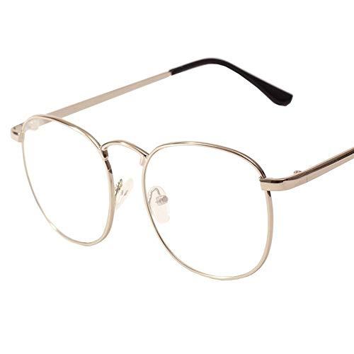 WULE-RYP Polarisierte Sonnenbrille mit UV-Schutz Vintage Metall Brillengestell College Wind Flat Lens Gläser. Superleichtes Rahmen-Fischen, das Golf fährt (Farbe : Silver)
