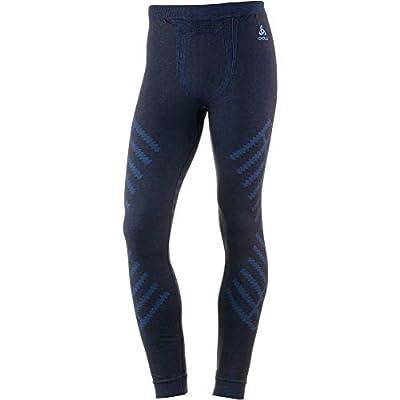 Odlo Suw Natural + Kinship Warm Bottom Pants Men Blue Coral Melange 2018 Unterwäsche von Odlo bei Outdoor Shop