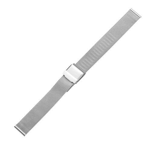 Belle Maison Creative Simple Fashion Uhrenarmband Metall, Breite: 14mm (Farbe : Silber)
