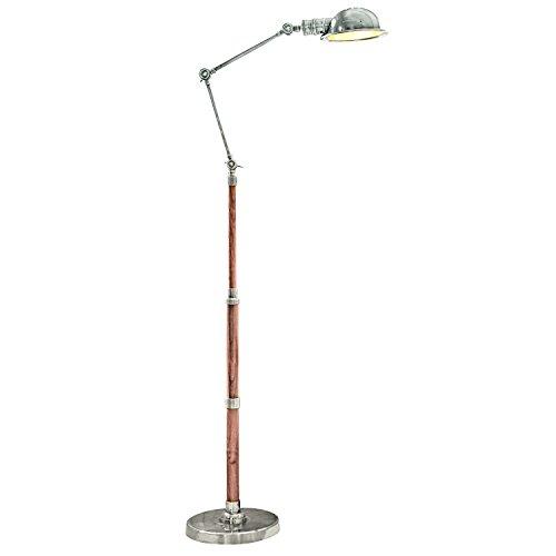 LOBERON Stehlampe Memphis, Messing, H/Ø ca. 187/17,5 cm, antiksilber/braun, Energieeffizienzklassen...