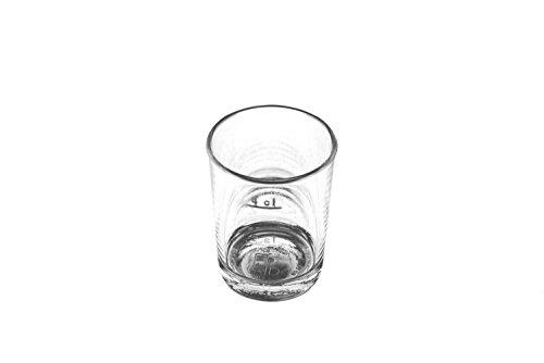 KM-Living 12 Stück Set 2cl / 4cl Kunststoff Mehrweg Schnapsglas - Stamper bruchfest & hochwertig aus PC (PolyCarbonat) glasklar [Made in Germany] (Polycarbonat-becher)