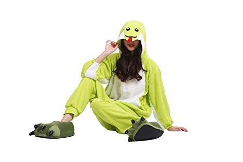 Imagen de yuwell onesie pijamas unisex cosplay animales kigurumi traje disfraz pyjamas halloween, serpiente verde l height 170 180cm  alternativa