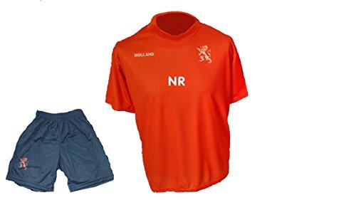 Holland Niederlande Trikot Hose mit Wunschname Nummer Kinder Größe 110