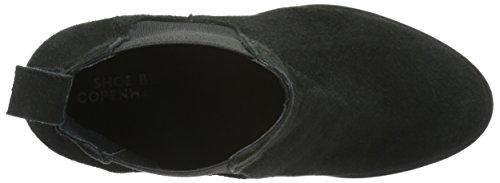 Shoe Biz Bati, Bottes Chelsea Femme Noir (Suede Black)