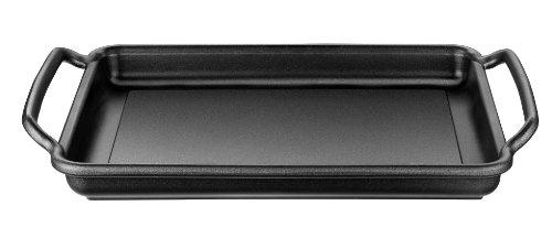 Monix Solid+ - Plancha plana 40 cm de aluminio fundido con antiadherente...