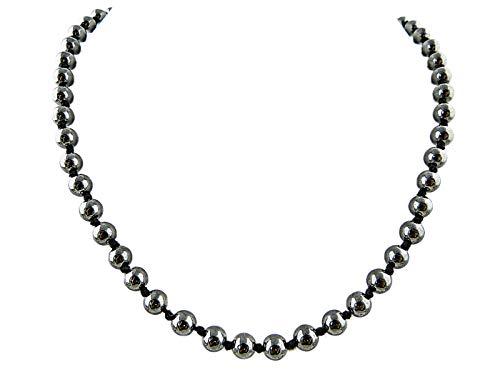 (Edelstein Halskette Collier Hämatit (Hämatin) 6 mm Perlen)