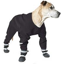 Muttluks Hunde-Regenjacke, 4Beine 12Zoll/30,48cm, Schwarz