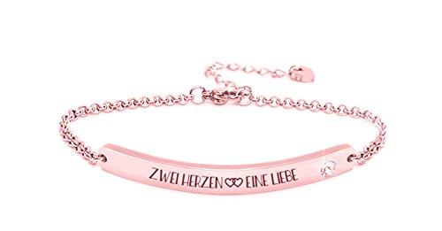 Donna silvity diamanti braccialetto di edenl acciaio raffinato con un cristallo swarovski ¨ 16,5cm fino a 20,5cm colore: oro rosa e acciaio inossidabile, colore: farbe: rosegold motiv: