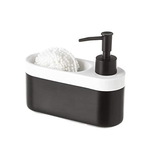 Pack de estropajo y dosificador de jabón en color blanco y negro