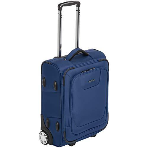 AmazonBasics - Bagaglio a mano espandibile, morbido, con chiusura TSA e rotelle, 48 cm, blu
