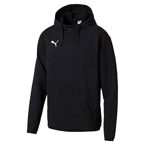 Puma Herren LIGA Casuals Hoody Sweatshirt, schwarz Black White, - Puma Sweatshirt Jacke