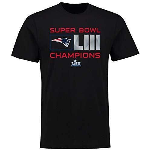 Fanatics NFL T-Shirt New England Patriots T-Shirt Superbowl Champions LIII Extra Point Football (3XL)
