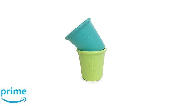 2pk - sea /& lime mehrfarbig Silikids GoSili CUP2PK01 silicone cups