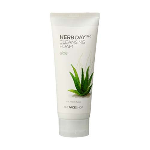 The Face Shop Herb Day Cleansing Cleansing Foam (Aloe) 170ml/Made in Korea by The Face Shop