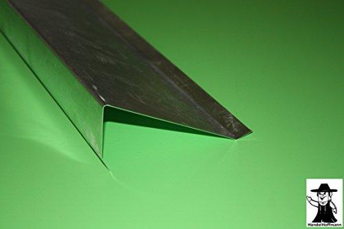 Ortgangblech für Flachdach 2 m lang Titanzink 0,7 mm (klein)