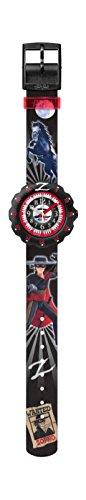 Flik Flak Jungen-Armbanduhr Analog Quarz One Size, schwarz, schwarz