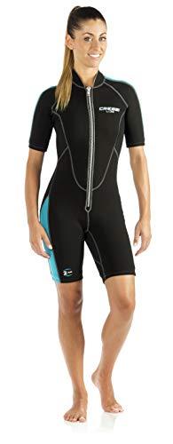 Cressi Damen Neopren Schwimmanzug Shorty Lido Lady, schwarz/blau, S/2, LV457002