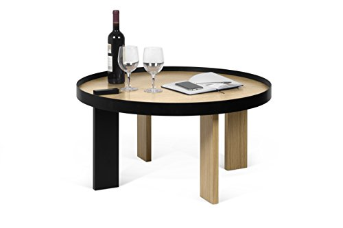 TemaHome 9003.628078 Table salloto Bruno, Bois, Beige, 80 x 80 x 42 cm