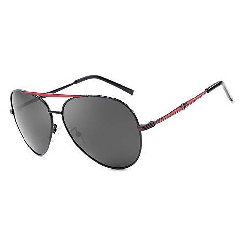 Easy Go Shopping Frog Mirror Driving Klassische Vintage Brille mit rundem Rahmen 100% UV-Schutz Polarisierte Unisex-Sonnenbrille Sonnenbrillen und Flacher Spiegel (Color : Rot, Size : Kostenlos)