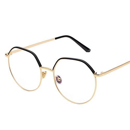 Easy Go Shopping Vintage Gold Frame Feinkantige Bicolor Sonnenbrille Top Runde Persönlichkeit Brille Bequeme Flache Linse. Sonnenbrillen und Flacher Spiegel (Farbe : Rosa)