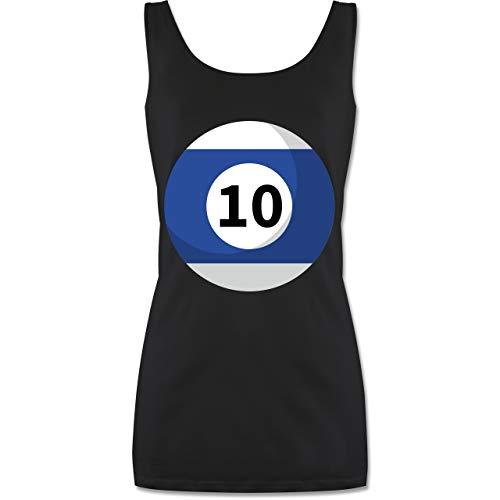 Kostüm 10 Gruppe Top - Shirtracer Karneval & Fasching - Billardkugel 10 Kostüm - XL - Schwarz - P72 - Tanktop für Damen und Frauen Tops