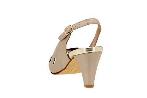 Chaussure femme confort en cuir Piesanto 6279 sandale habillé comfortables amples Platino