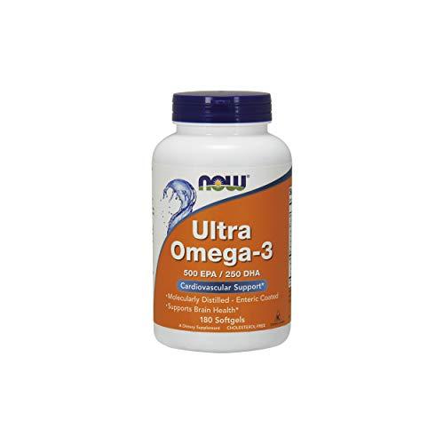 NOW Foods Ultra Omega-3 Fish Oils -180 Softgel Capsules