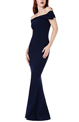 Irenephil A spalle delle donne senza spalline maniche corte arco sexy Fishtail abito maxi abiti da ballo (fornire il formato, il vestito su ordine) IRLS01-687008