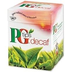 PG Tips Pyramid Decaf 80 Tea Bags 250g - entkoffeinierter Schwarztee
