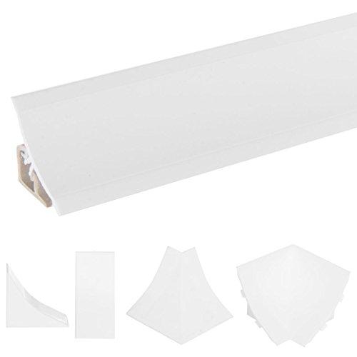 HOLZBRINK Endstück passend zum Dekor Ihrer Abschlussleisten Weiß PVC Küchenabschlussleiste 23x23 mm