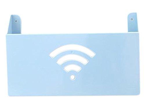 Wlan-breitband-router (Haodou Kreativ Aufbewahrungsbox für Zeitschriften Router WLAN Aufbewahrungsbox Multifunktions Breitband Wand-Aufbewahrungsbox 26.5*6*16.5cm - Blau)