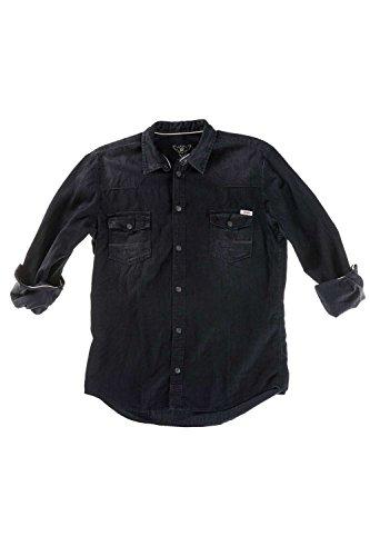 Meltin'Pot - Camicia Jeans CAREY D0100-UT098 per uomo, modello western look denim - taglia X-large