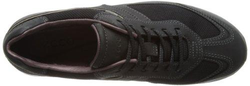 Ecco MOBILE II 202633, Sneaker donna Nero (Schwarz (Black/Black/ Nubukleder 53994))