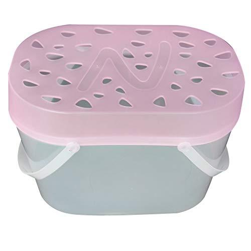 perfk Transportbox Tragebox für Kleintiere Nager Hamster Eichhörnchen Meerschweinchen Chinchillas Ratten Mäuse - L