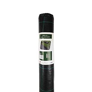 Seinec Malla/Tela Antihierbas Negra. Resistente a Roturas. con Protección UV para el Control de Maleza en Jardín y Huertos Ecológicos. Ocultación. Polipropileno (PP)