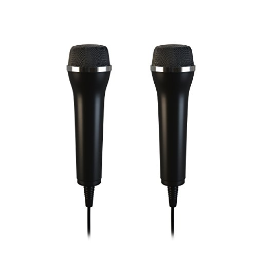 Lioncast USB Mikrofon Doppelpack für Karaoke für PC, Wii, Xbox, Playstation (PS3, PS4, PS4 Pro), Switch, 2er Set (Length - 2.95 m)