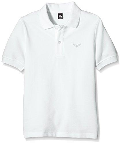 Trigema Mädchen Poloshirt Piqué-Qualität, Gr. 140, Weiß (Weiss 001)