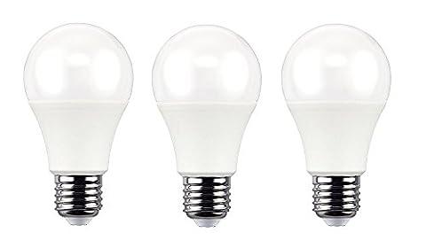 repsn 3Packungen Hochwertige LED-Leuchtmittel A60E2710W 870lm 2700K Weich Warm Weiß für Sommer Saison, entspricht 60W Glühbirnen, Energiesparlampen, LED-Leuchten für Home Beleuchtung