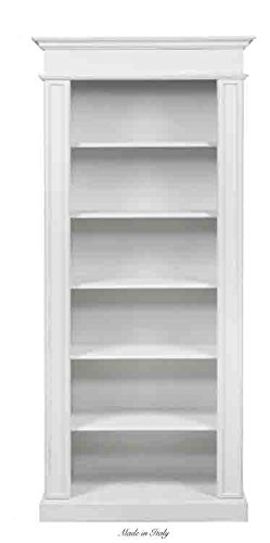 Libreria in legno stile vintage L'ARTE DI NACCHI disponibile in diverse rifiniture 4683/SH