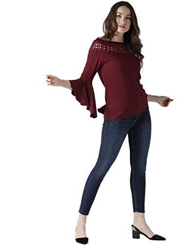 Style Quotient Women Maroon Solid Top (Maroon, Medium)