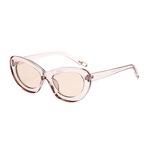 jgashf Kleine Cat Eye Sonnenbrille Sonnenbrillen Uv400 Mode Frauen Brillen Sexy Style Eyewear TöNung GläNzende Linse Eyewear (C)