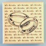 Stempel - Wir heiraten 60 x 60 mm Ringe mit Schrift
