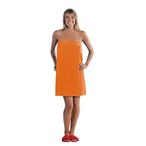 Terry Town Damen Plus Größe Terry Velours Spa Wrap, orange, XXL