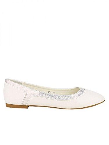 Cendriyon, Ballerine blanche BELLELI Grandes Pointures Chaussures Femme Blanc