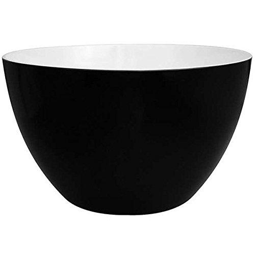 Zak Designs 0535-1898E Saladier 28cm noir/blanc mélamine