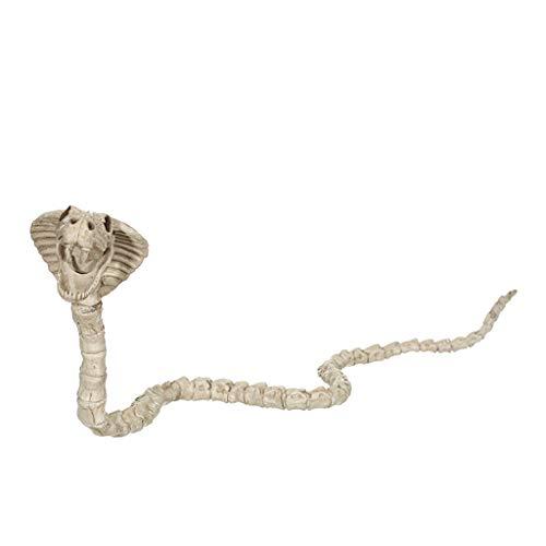 QAR Halloween Dekoration Simulation Cobra Knochen Stick Film Spukhaus Requisiten ()