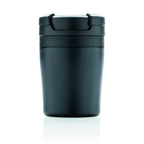 XD Design P432.921 Tumbler Coffee to go Becher, Polypropylen, Schwarz Design Tumbler