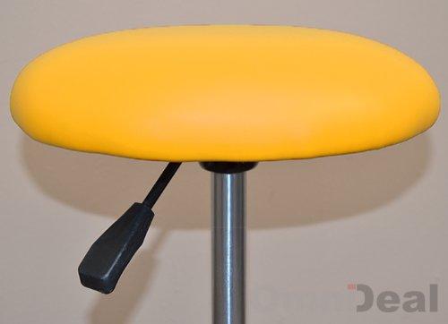 Eyepower sgabello mst 402 girevole 360° con ruote sedile